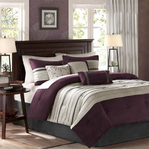Palmer Plum Seven-Piece Queen Comforter Set