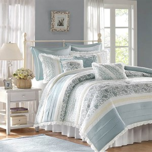Dawn Blue Nine-Piece Queen Comforter Set