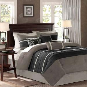 Palmer Black Seven-Piece Queen Comforter Set