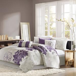 Lola Purple Six-Piece Twin Comforter Set