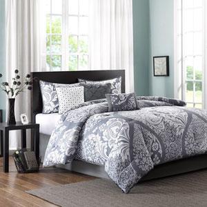 Vienna Gray Seven-Piece Queen Comforter Set