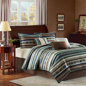 Malone Multicolor Seven-Piece Queen Comforter Set