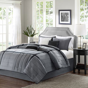Bridgeport Gray Seven-Piece Queen Comforter Set