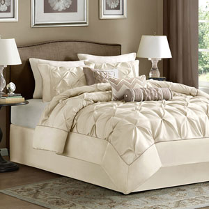Laurel Ivory Seven-Piece Full Comforter Set