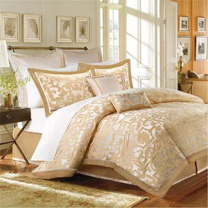 Signature Castello Gold Eight-Piece Queen Comforter Set
