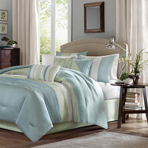 Carter Green Seven-Piece Queen Comforter Set
