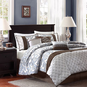 Crosby Brown Seven-Piece Queen Comforter Set