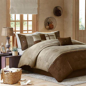 Boone Brown Seven-Piece Queen Comforter Set