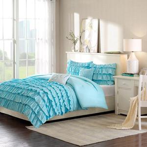 Waterfall Blue Four-Piece Twin/Twin XL Comforter Set