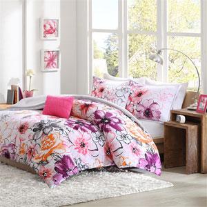 Olivia Pink Four-Piece Twin/Twin XL Comforter Set