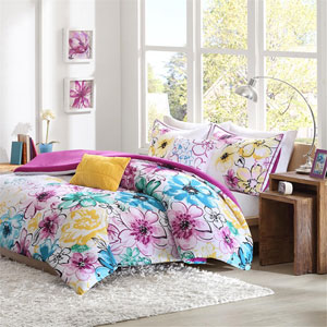 Olivia Multicolor Four-Piece Twin/Twin XL Comforter Set