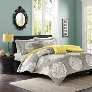 Tanya Gray Four-Piece Twin/Twin XL Comforter Set