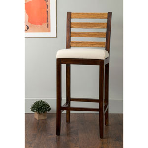 Ames Brown Square Rattan Barstool