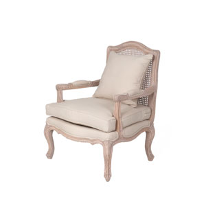 Arcadia Off-White Rattan Occasional Chair
