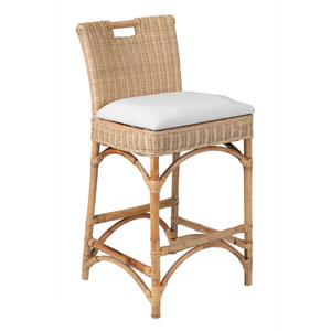 Barnes Beige Rattan Counter Stool