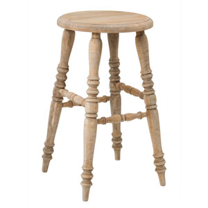 Baylor Brown Rubberwood Counter Stool