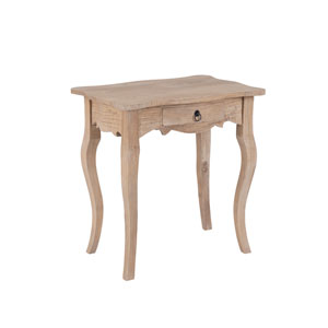 Benton Brown Rubberwood Rectangle Accent Table