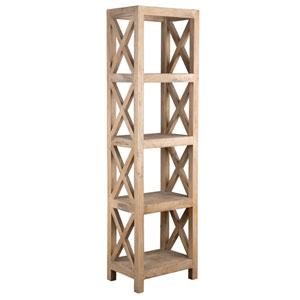 Birch Brown Rubberwood Bookcase