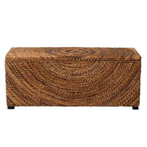 Chambers Brown Abaca Bench