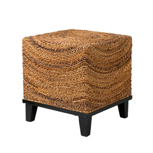 Chruchill Brown Abaca Square Accent Table