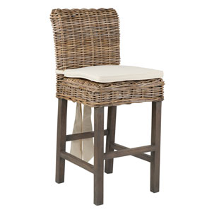 Dyer Brown Rattan Counter Stool