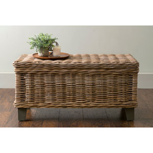 Hayward Brown Rectangular Rattan Coffee Table