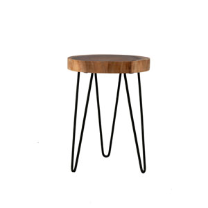 Laredo Brown Teakwood Round Accent Table