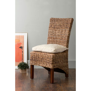 Milford Brown Square Abaca Dining Chair