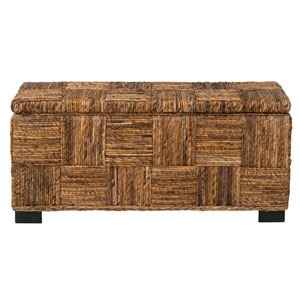 Mulberry Brown Abaca Bench