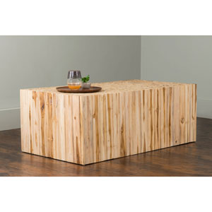 Rowan Brown Rectangular Teakwood Coffee Table