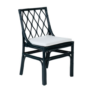 Taft Blue Rattan Dining Chair