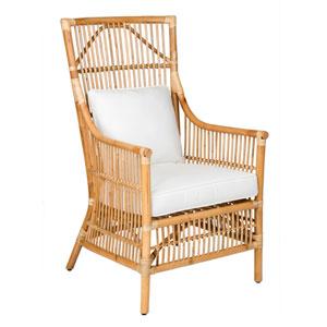 Tucker Brown Rattan Occasional Chair