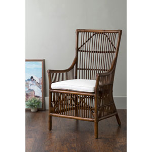 Walton Brown Square Rattan Accent Chair