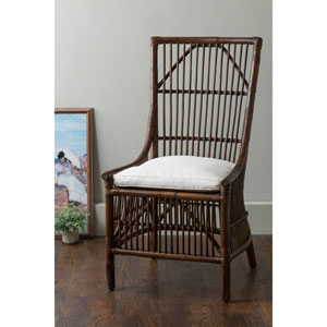 Worthington Brown Square Rattan Dining Chair