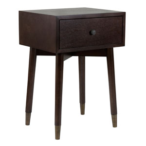 Weeks Brown Acacia Wood Square Accent Table