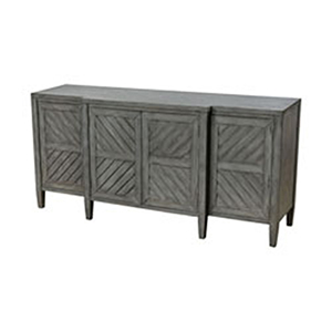 Half Moon Bay Reclaimed Grey Veneer Credenza