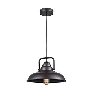 Rum Row Oil Rubbed Bronze One-Light 13-Inch Mini Pendant