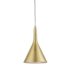 Spacerace Gold Leaf One-Light 7.5-Inch Mini Pendant