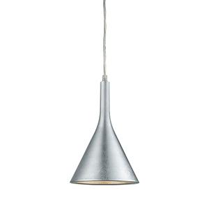 Spacerace Silver Leaf One-Light 7.5-Inch Mini Pendant