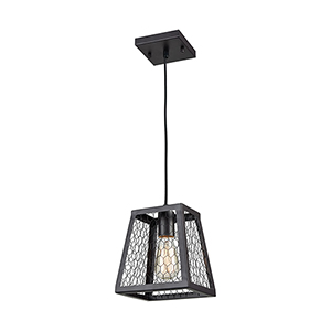 Grange Oil Rubbed Bronze One-Light Seven-Inch Mini Pendant