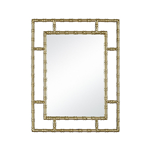 Grand Gold Plated Stainless Steel and Mirror 27-Inch Mirror
