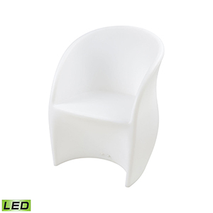 A Design Space Oddysey White 24-Inch LED Patio Chair