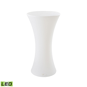 A Design Space Oddysey White 23-Inch LED Patio Bar Table