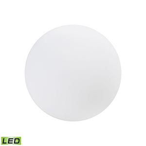 A Design Space Oddysey White 16-Inch LED Outdoor Decoration