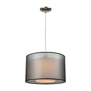 Dusk Lamp Black and White Pendant