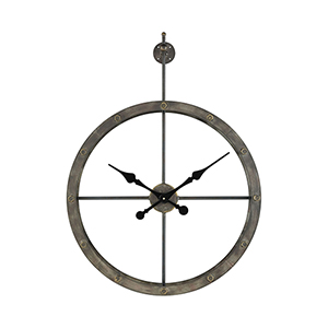Depeche Wall Grey Iron 24-Inch Clock