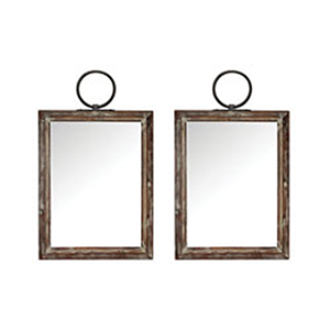 Ticonderoga Salvaged Grey Wood Mirror