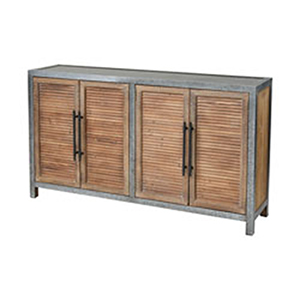 Badlands Drifted Oak and Aged Iron Credenza