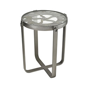 Sync Salvaged Grey Wood and Pewter End Table