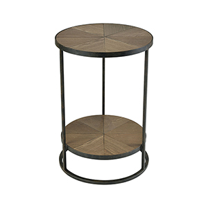 Circa Hazelnut and Aged Pewter 18-Inch Accent Table